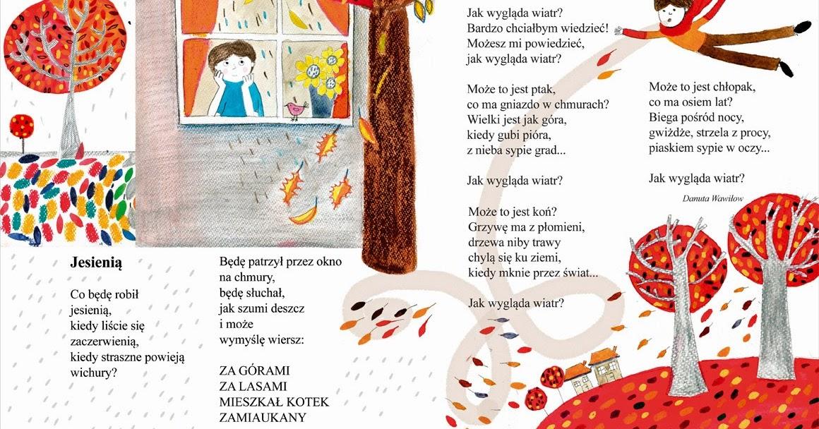 Jesień W Wierszach Danuty Wawiłow Zajęcia Literacko Plastyczne